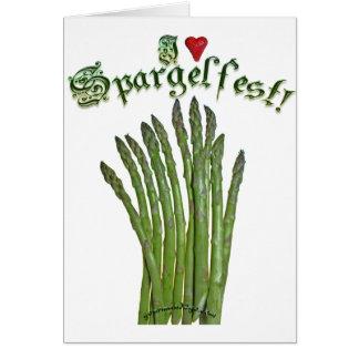 I Love Spargelfest! Card