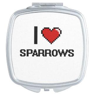 I love Sparrows Digital Design Compact Mirror