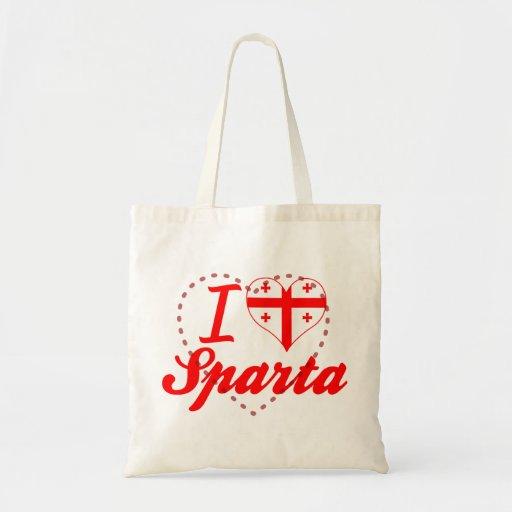 I Love Sparta, Georgia Canvas Bags