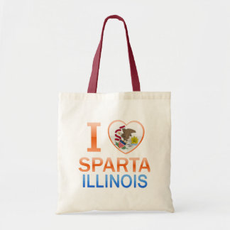 I Love Sparta, IL Budget Tote Bag