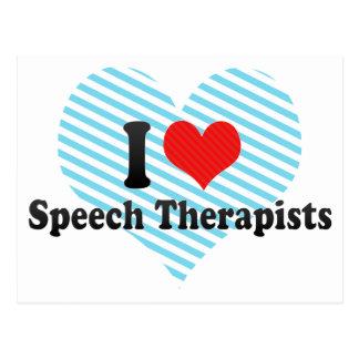 I Love Speech Therapists Postcard