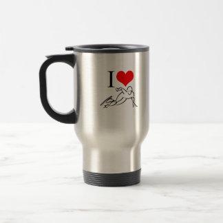 I Love Speed Skating Stainless Steel Travel Mug