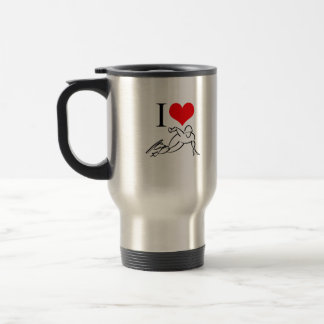 I Love Speed Skating Travel Mug