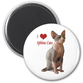 I Love Sphinx Cats Magnet