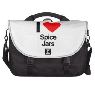 i love spice jars laptop bag