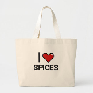 I Love Spices Jumbo Tote Bag