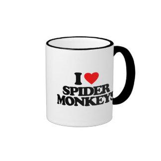 I LOVE SPIDER MONKEYS COFFEE MUGS