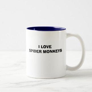 I LOVE SPIDER MONKEYS Two-Tone MUG