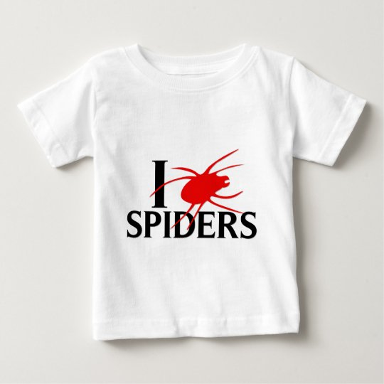 I Love Spiders Baby T-Shirt