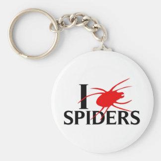I Love Spiders Basic Round Button Keychain