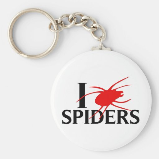 I Love Spiders Key Chains