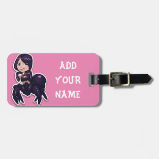 I love spiders luggage tag