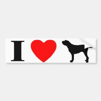 I Love Spinoni Italiani Bumper Sticker