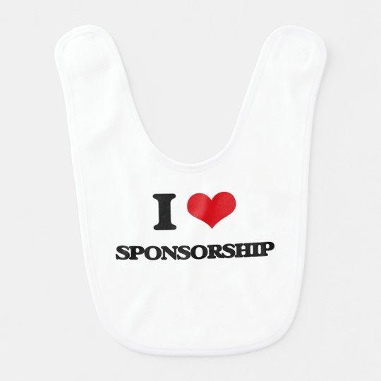 I love Sponsorship Baby Bibs