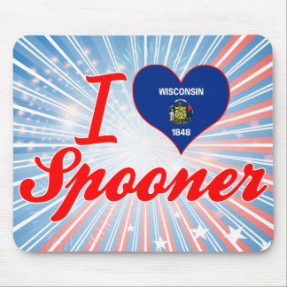 I Love Spooner, Wisconsin Mouse Pads