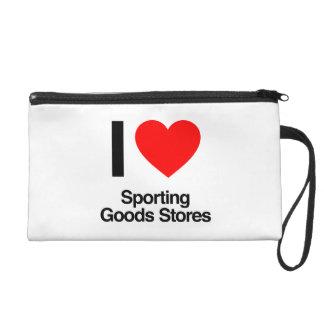 i love sporting goods stores wristlet