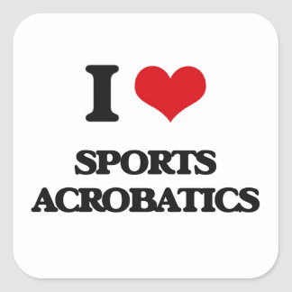 I Love Sports Acrobatics Stickers