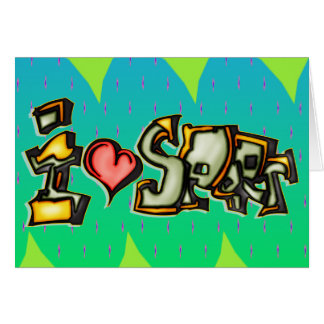 I Love Sports Stationery Note Card