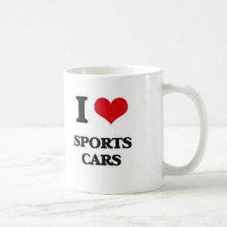 I Love Sports Cars Coffee Mug