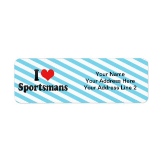 I Love Sportsmans Custom Return Address Label