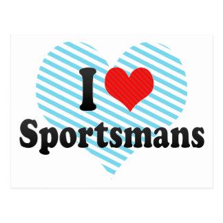 I Love Sportsmans Postcards