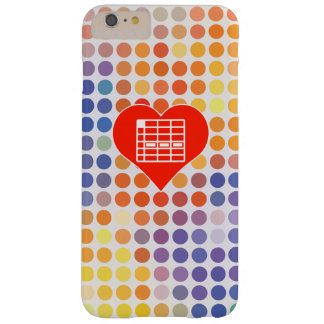 I Love Spreadsheet Barely There iPhone 6 Plus Case