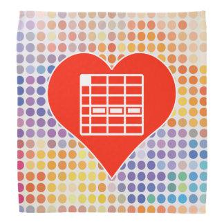 I Love Spreadsheet Do-rags