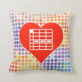 I Love Spreadsheet Pillows