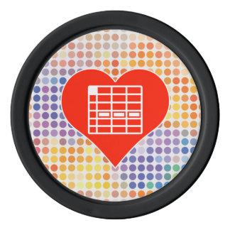 I Love Spreadsheet Poker Chip Set