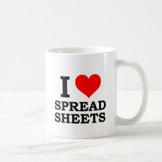 I Love Spreadsheets Basic White Mug