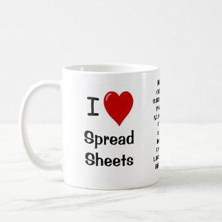 I Love Spreadsheets - Rude 'n' Cheeky Reasons Why! Basic White Mug