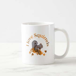 I Love Squirrels Coffee Mug