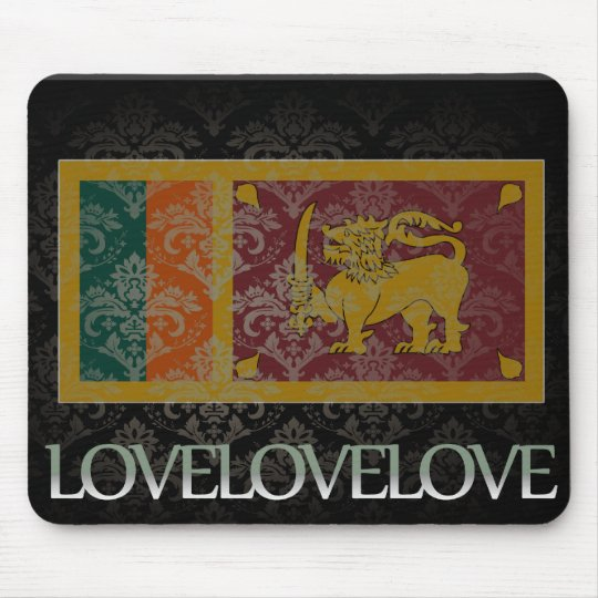 I love Sri Lanka Cool Mouse Pad