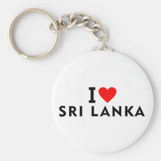 I love Sri Lanka country like heart travel tourism Keychain