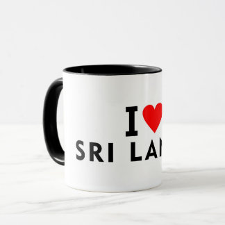 I love Sri Lanka country like heart travel tourism Mug