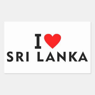 I love Sri Lanka country like heart travel tourism Sticker