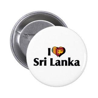 I Love Sri Lanka Flag 2 Inch Round Button