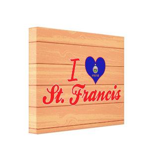 I Love St  Francis, Kansas Canvas Print