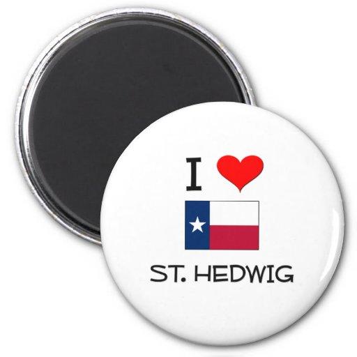 I Love St. Hedwig Texas Fridge Magnets