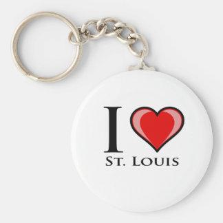 I Love St. Louis Keychain