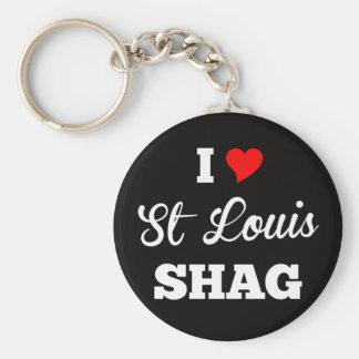 I Love St Louis Shag Pitch Keychain