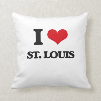 I love St. Louis Throw Pillow