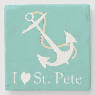 I Love St. Pete Nautical Stone Coaster