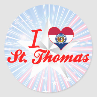 I Love St. Thomas, Missouri Round Sticker