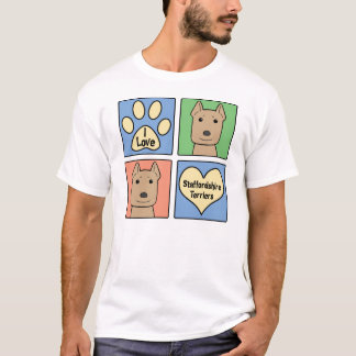 I Love Staffordshire Terriers T-Shirt