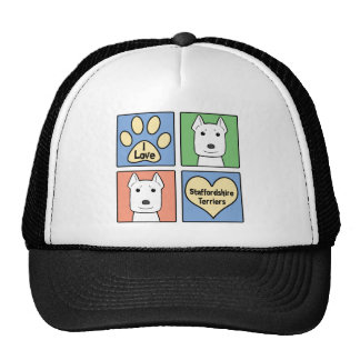 I Love Staffordshire Terriers Trucker Hat