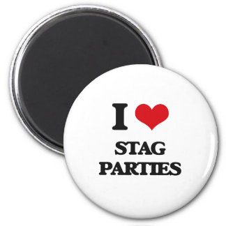 I love Stag Parties 2 Inch Round Magnet