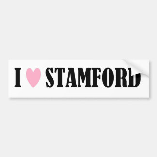 I LOVE STAMFORD BUMPER STICKER