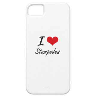 I love Stampedes Case For The iPhone 5