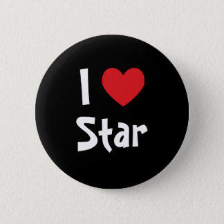 I Love Star 2 Inch Round Button